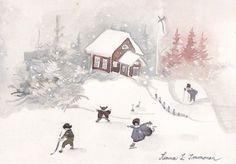 Рисунки Minna Immonen. Акварель (167 работ) Skate Art, Ice Skaters, Finland, Illustration Art, Victorian, Watercolor, Winter, Artist, Prints