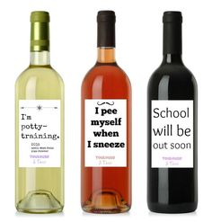 12 Honest Wine Labels for Moms - these are hillarious!