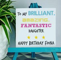 PERSONALISED Handmade Birthday Brilliant Daughter Granddaughter Niece Sis Card