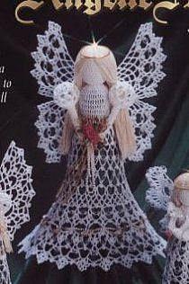 Crochet Angel Pattern, Crochet Angels, Crochet Doily Patterns, Irish Crochet, Diy Crochet, Crochet Hooks, Quilt Patterns, Christmas Items, Christmas Angels