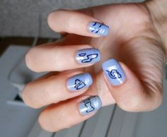 naruto nails by GhostPrincess91.deviantart.com on @DeviantArt