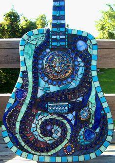 Blues Mosaic Guitar