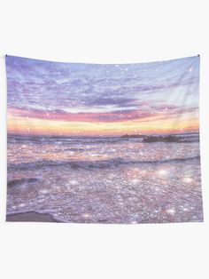 """""""Ocean Vintage Sparkly Aesthetic"""" Tapestry by ind3finite 
