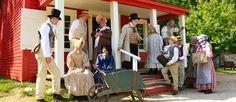 Fishers, IN - Conner Prairie, a living-history park, seamlessly blends traditional storytelling techniques (costumed townspeople in character) and new ideas (video screens where doors and windows should be) to share how people responded when Confederates raided their homes and businesses in July 1863.