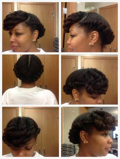Flat Twist Style with twisted bang - Flat Twist Hairstyles, Afro Hairstyles, Hairstyles With Bangs, Summer Hairstyles, Ladies Hairstyles, Natural Hair Care Tips, Natural Hair Styles, Long Hair Styles, Natural Beauty