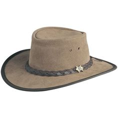 2ca6a2fc BC Hats Hat n the Pouch Suede Australian Leather Hat Australian Outback Hat,  Outdoor Hats