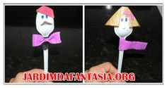 Atividades Jardim da Fantasia: Fantoches de Colheres Descartáveis Atividade Const...