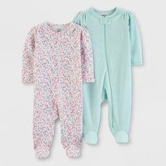 Baby Girls' Footed Sleepers - Just One You made by carter's Pink/Aqua Preemie, Girl's, Size: Small Baby Girl Pajamas, Carters Baby Girl, Baby Girls, Carters Just One You, Target Baby, Baby Bath Time, Baby Sleepers, Esquivel, Best Kids Toys