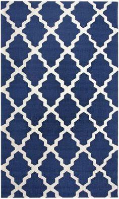 Area Rug Modern Contemporary Geometric Navy Blue 5x8 | eBay