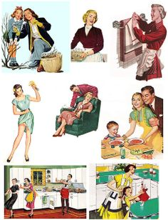"Free printable 1960's images from PaperScraps. Nice to print and use these on a card. Click ""view all sizes"" in the top right corner. Other vintage images in different styles available aswell - total of 52 sheets."