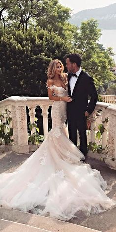 30 Romantic Off The Shoulder Wedding Dresses ❤ mermaid off the shoulder wedding dresses lace rustic galia lahav ❤ See more: http://www.weddingforward.com/off-the-shoulder-wedding-dresses/ #wedding #bride