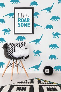Dinosaur wall stickers / decals for boys / by elizadoodledesigns