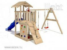 Kerti játszótér, játszóvár csúszda, hinta homokozó - 129990 Ft