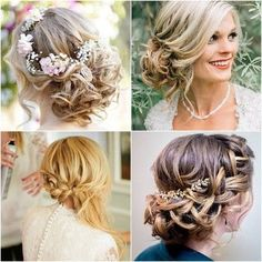 Wedding Bridal Hairstyles pictures collage.  Lots of GORGEOUS wedding hair ideas on this page.