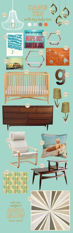 um, LOVE this. just the colors I want to use-- orange and teal. :)     via lay baby lay.