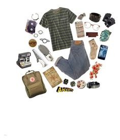 Untitled #59 by majastina-2004 on Polyvore featuring polyvore Vans Fjällräven Bolongaro Trevor Stefanie Sheehan Jewelry Maria Black Hot Topic Casetify Aspinal of London American Apparel Levi's Polaroid fashion style clothing