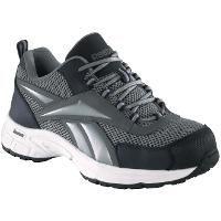 Reebok Women's Steel Toe Cross Trainers Gray / Navy, 10b, Gray/Navy Blue