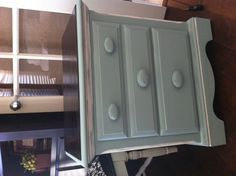 $15 night stand redone in Annie Sloan's Duck Egg. My favorite color!!