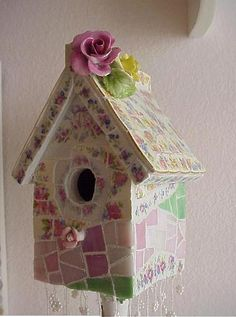 Mosaic bird house by Enchanted Rose Studion