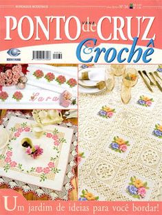 embroidery and crochet edging patterns Knitting Books, Crochet Books, Thread Crochet, Crochet Crafts, Crochet Doilies, Easy Crochet, Crochet Edging Patterns, Crochet Borders, Embroidery Patterns