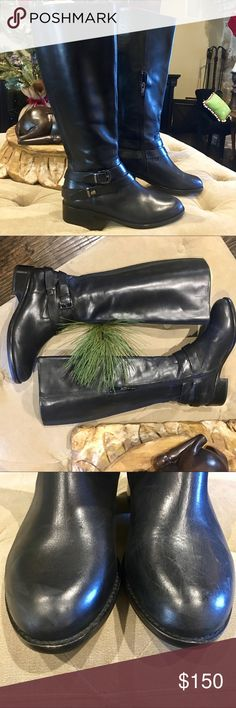 Neiman Marcus riding boots. Size 37.5 ❄️🌲Neiman Marcus riding boots. Size 37.5. Brand new never worn. Boots were never worn but do have MINIMAL leather scuffing on toes. See pics. Recommended for smaller calves. Beautiful boot. Neiman Marcus Shoes