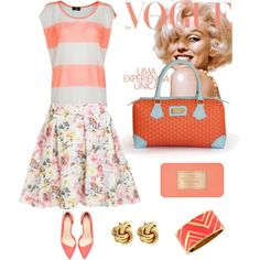 """Coral time!!"" by arichebags on Polyvore  #Fashion #moda #glam"