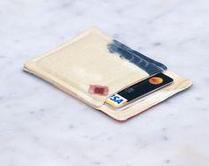 New to Chockrosa on Etsy: Minimalist wallet - Credit card wallet - Slim business card holder - OOAK - Minimalism - Womens Mens gift - Front pocket wallet