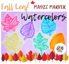 Fall Leaf Watercolors Painting Lesson Plan: Painting for Kids - KinderArt Painting Lessons, Drawing Lessons, Painting For Kids, Art For Kids, Watercolor Books, Watercolor Ideas, Watercolor Pencils, Elementary Art Lesson Plans, Primary School Art