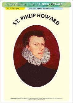 St. Philip Howard - 19 October #SaintsDay - Poster A3 (STP1108)