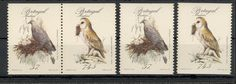 PORTUGAL-MADEIRA-MNH PAIR+TWO STAMPS-FAUNA-Endemic Birds (I)-OWL-1987.