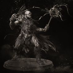 Orc warlock clay i did for the CgHub 28'th 3D Creature Planets Challange. Modelling done in Zbrush, render with Keyshot4, added some dust and smoke effects in Photoshop.  Behance: http://www.behance.net/dinusilviuadrian