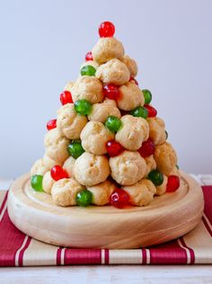 Cream Puff Christmas Tree - 15 Delicious Christmas Desserts