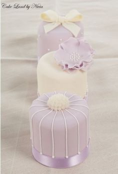 Mini lavender cake wedding cakes www.finditforwedd...