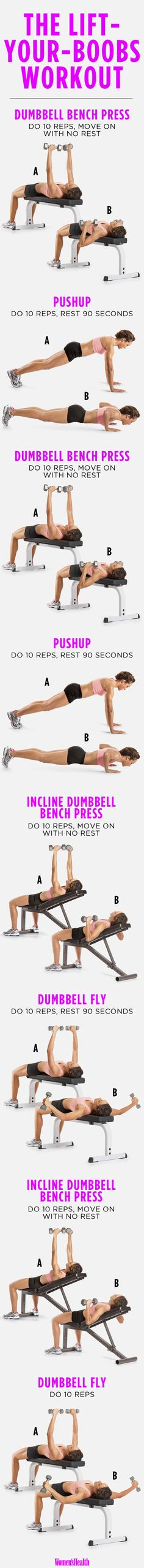 4 Exercises to Lift Your Boobs - might need this after #2 shows up next week!