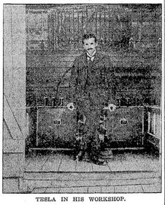 This is a wonderful article I found in the Newspaper Archives from Frank G. Carpenter interviewed Nikola Tesla on two separate occasions. The first time was September of 1894 at Tesla's laboratory on East Houston and the second interview took place Tesla Coil, Tesla S, Tesla Power, Nikola Tesla Inventions, Tesla Quotes, Tesla Patents, Nicolas Tesla, Newspaper Archives, Secrets Of The Universe