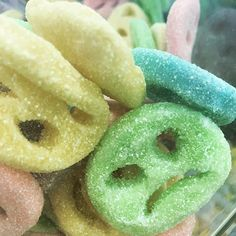 They called these smile candies  They dont look too happy