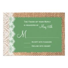 Shop Zazzle's luxurious range of Discount custom wedding invitations. If your event changes, we'll reprint your new cards for free. Discount Wedding Invitations, Wedding Invitation Templates, Embellishments, Create Your Own, Favors, Burlap, Green, Ornaments, Presents