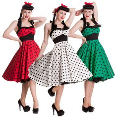 Hell Bunny Adelaide Polka Dot Retro Rockabilly Vintage 50s Party Prom Sun Dress #HellBunny #50sRockabilly #Party