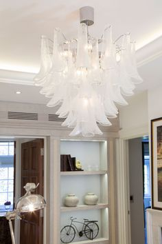 Luxury Murano Chandelier in Study Room | JHR Interiors