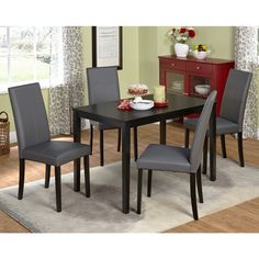 Simple Living Bettega Parson Five-piece Dining Set | Overstock™ Shopping - Big Discounts on Simple Living Dining Sets