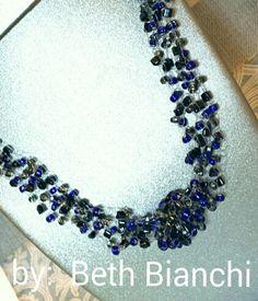 Crochet necklace by Beth Bianchi #beadingbabesofdurham #bethbianchi #beadrock #beadclasses