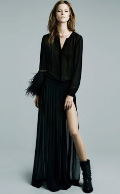 12b69ab56 Zara Black, Pleated Maxi, Chiffon Maxi, Chiffon Shirt, Maxi Skirts, Black