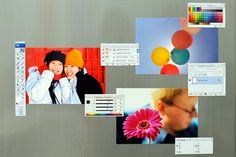 Photoshop Fridge Magnets - Friendly tool and palette bar fridge magnets for your sometimes unfriendly kitchen. ($25.00, http://photojojo.com/store)