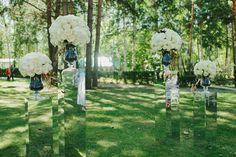 Стильная чёрно-белая свадьба: Юрий и Елена