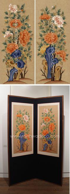 Korean Painting, Korean Traditional, Botanical Art, Chinoiserie, Oriental, Folk, Ceramics, Flower Paintings, Flowers