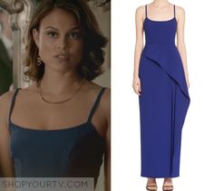 Sybil / Nathalie Kelley blue wrap dress in The Vampire Diaries - The Simple Intimacy of The Near Touch Fashion Tv, Style Fashion, Girl Fashion, Fashion Outfits, Daniel Gillies, Joseph Morgan, Nat Kelley, Kelley Blue, Nathalie Kelley