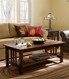 Mission Coffee Table: Mission At L.L.Bean