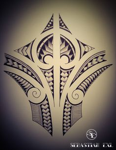 Sebastian Exl | Tattoo Artist; Drawing, 2013, Style: Polynesian Mix. Pattern!