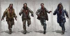 Character Concept, Concept Art, Character Design, Zombie Cosplay, Game Of Survival, Survival Quotes, Wasteland Warrior, Apocalypse Art, Zombie Art