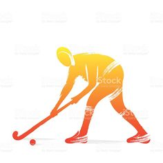 hockey player design by brush stroke vector Brush Stroke Vector, Field Hockey, Hockey Players, Free Vector Art, Brush Strokes, Image Now, Royalty, Sport, Patterns